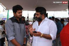 Vijay With Mohanlal at Jilla Shooting Spot