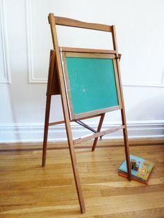 Vintage folding chalkboard desk