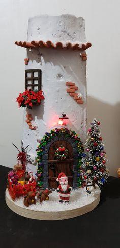 Fairy Garden Ornaments, Rice Paper Decoupage, Decorative Tile, Fairy Houses, Flower Frame, Xmas, Christmas, Ceramic Pottery, Dollhouse Miniatures