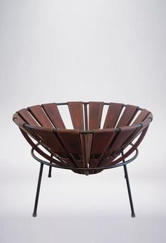 Bowl Chair in Leather by Lina Bo Bardi, 1950s 4