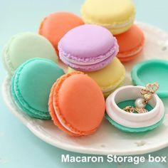 6 pcs/Lot Mini Teddy Macaron Storage Box Candy Organizer For Jewelry Caixa Organizadora Zakka Gift Novelty Households