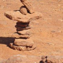 Stacked rocks http://theblondegardener.com/2016/01/31/frontier-fun/