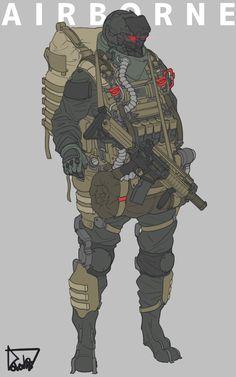 Sci-Fi Armor Design by Lee Yeong gyun Armor Concept, Concept Art, Character Concept, Character Art, Science Fiction, Futuristic Armour, Arte Cyberpunk, Sci Fi Armor, Future Soldier
