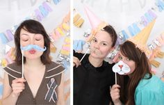 "party photo ""booth""// Claire + Kristin of The Blow Up Girls Puppy Birthday Parties, Cat Birthday, Birthday Ideas, Minnie Mouse Party, Mouse Parties, Creative Party Ideas, Event Planning Tips, Cat Party, Childrens Party"