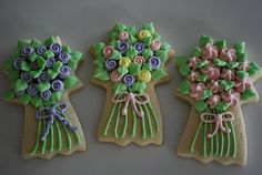 Mother's Day Bouquets! Vanilla Sugar Cookie with Royal Icing