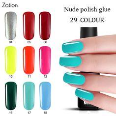 Zation Nagel Gel Primer Emaille Bunte Gel Nagellack Gel Lack lack Top Base Coat Gelpoliermittel Nagel Nail art Polnischen