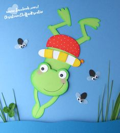 Frog craft for kids Pond Crafts, Frog Crafts, Animal Crafts For Kids, Art For Kids, Paper Plate Animals, School Scrapbook Layouts, Frog Theme, Arts And Crafts, Paper Crafts