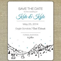 REDUCED PRICE DIY Printable Colorado Save the Date in Download