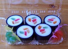 Sushi Soap  So authentic looking… and while you can't eat this sushi, it will definitely keep you clean.