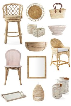 Bringing Texture to the Kitchen with Rattan Stools - Obsessed with my new woven stools! I sourced all of my favorite rattan and woven decor pieces too. Painted Bar Stools, Wicker Bar Stools, Rustic Bar Stools, Rattan Stool, Outdoor Bar Stools, Ikea Stool, Rattan Armchair, Diy Stool, Stool Chair