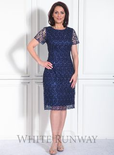 Hazel Dress. A stunning dress by Laura K. A cap sleeved dress made from a delicate embellished lace. #whiterunway