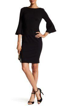 Modern American Designer - Ruffle Sleeve Dress