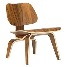 """Designed in the Eames Molded Plywood Chair has been called """"The Most Famous Chair of The Century."""" This chair's natural contours are designed to fit the body comfortably. Herman Miller still produces this chair. Charles Eames, Ray Charles, Wood Chair Design, Design Furniture, Modern Furniture, Scandinavian Furniture, Classic Furniture, Mid Century Chair, Mid Century Furniture"""