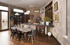 Diseño cocina comedor casa campo