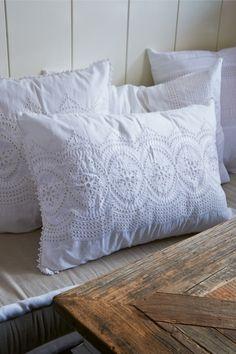 J'adore le blanc Edge Pillow 65x45