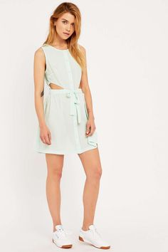 Cooperative by Urban Outfitters Side Cut-Out Dress in Mint