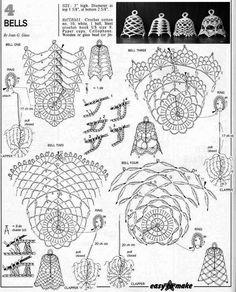 Crochet Christmas Decorations, Crochet Ornaments, Holiday Crochet, Crochet Snowflakes, Crochet Home, Crochet Stitches Patterns, Crochet Chart, Thread Crochet, Christmas Charts
