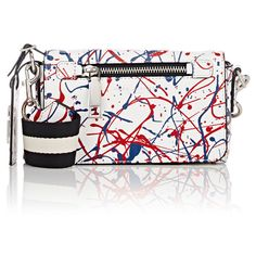 Marc Jacobs Splatter Paint Crossbody (5.136.975 IDR) ❤ liked on Polyvore featuring bags, handbags, shoulder bags, multi, white shoulder bag, marc jacobs shoulder bag, white handbags, cross body strap purse and marc jacobs crossbody