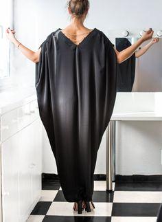 NOUVEAU SS 2016 noir Maxi Dress Caftan par cherryblossomsdress