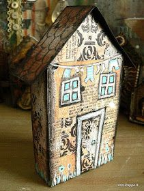 Von Pappe II: Two Tiny Mixed Media Houses