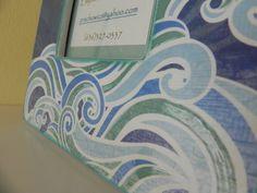 Ocean Waves handmade picture frame. $15.00, via Etsy.