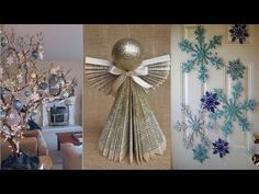 Winter decorating ideas made from wood winter decorating ideas 10 diy projects for christmas winter! decorating ideas for a frozen UJRODPK Living Room Decor On A Budget, Diy Room Decor, Living Rooms, Wall Decor, Wall Art, Christmas Decorations For The Home, Christmas Crafts, Frozen Room, Recycled Decor