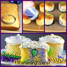 Mini Boozy King Cakes #MardiGras