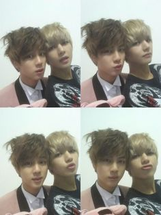 Jins sex hair and V's face got the feels going~