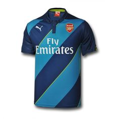 Arsenal FC Puma away blue adults short sleeve replica football shirt e2696e44e