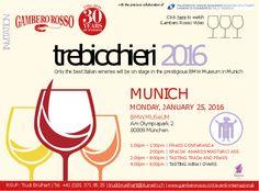 """Lunedì 25 Gennaio 2016 saremo presente all'evento ''Tre Bicchieri"""" a Monaco, dalle ore 13:00 alle ore 20:00 presso il BMW Museum.  Una magnifica location per magnifici vini!  Vi aspettiamo.  Next Monday we will be at the event """" Tre Bicchieri"""" in Munich from 13pm to 20pm IN the BMW Museum. A wonderful location for brilliant wines!   We wait for you!   #velenosivini #vinipiceni #worldwine #winelovers #trebicchieri #Germania"""
