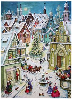 Sleigh ride advent calendar- this one looks familiar..not sure if we had it.