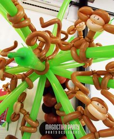 Monkey balloons in Palm Tree