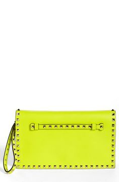 Valentino 'Rockstud' Flap Clutch available at #Nordstrom