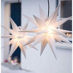 Outdoor-Leuchtstern mit 18 Zacken, dreidimensional, in weiß. #Leuchtstern #Deko #Outdoor #Weihnachten #Impressionenversand