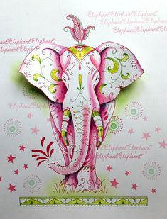 fabric stamping Pink Ink Designs, bring you our beautifully hand drawn, Elephant stamp with extra elements. The design allows you to stamp your very own Elephant, with additional eleme Bee Fabric, Elephant Fabric, Fabric Stamping, Free Motion Embroidery, Cardmaking And Papercraft, Ink Stamps, China, Watercolor Cards, Watercolour