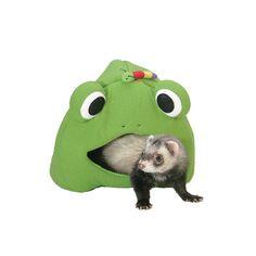 cachette grenouille pour #furet http://www.monfufu.com/furets-habitat/154-marshall-cachette-grenouille-furet.html