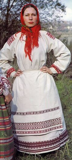 FolkCostume&Embroidery: The costume of west Polissia and Zavolikannia embroidery, Ukraine and Bielorus