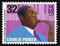 32 cents Charlie Parker U.S. Postage Stamp, issued on September 16, 1995.