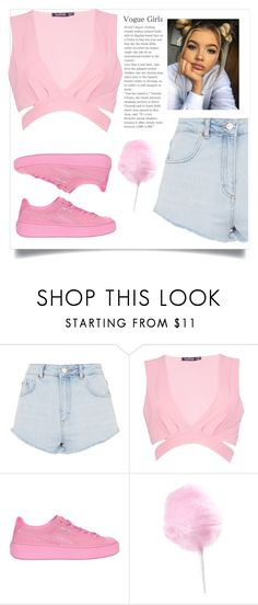 """Food 😀"" by queenshaima ❤ liked on Polyvore featuring Topshop, Boohoo and Puma"