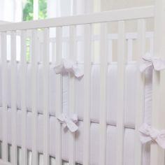 White Organic Crib Bumper #carouseldesigns