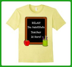Mens RELAX! The Substitute Teacher is Here! Funny Teacher T-Shirt 3XL Lemon - Careers professions shirts (*Amazon Partner-Link)