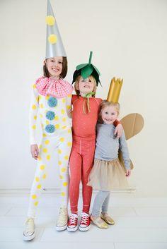 Easy Peasy Carnaval Kostuums verkleedkist verkleedkleding pierrot aardbei vlinder
