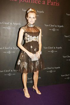 Diane Kruger in Chanel, Van Cleef And Arpels Party, 2006