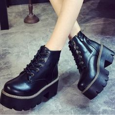 Harajuku punk platform boots SE8939