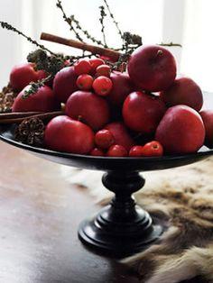 Dark red fruit.