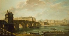 The Pont Neuf and the Samaritaine, oil on canvas by Nicolas-Jean-Baptiste Raguenet, French, Musée Carnavalet, Paris. Raguenet painted with a photographic precision which gives his work an. Plan Paris, Roman Names, Musee Carnavalet, Louvre Paris, Jean Baptiste, French Revolution, Love Painting, Paris Street, Art Reproductions