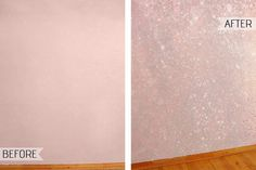 How To Create A Show Stopping Accent Wall With Sparkly Glitter Paint