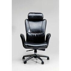 Καρέκλα Γραφείου Big Boss Black Μία άνετη και αναπαυτική καρέκλα γραφείου, με επένδυση δερματίνης (PU) και μεταλλικό σκελετό. Kare Design, Chair, Furniture, Armoire, Inspire, Home Decor, Business, Cheap Desk, Desk Organization