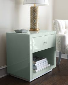 Nightstand: Ocean Glass Side Table from Horchow #uncommongoods #contest