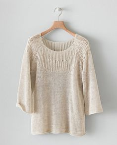 Image of Stitch Detail Linen Knit